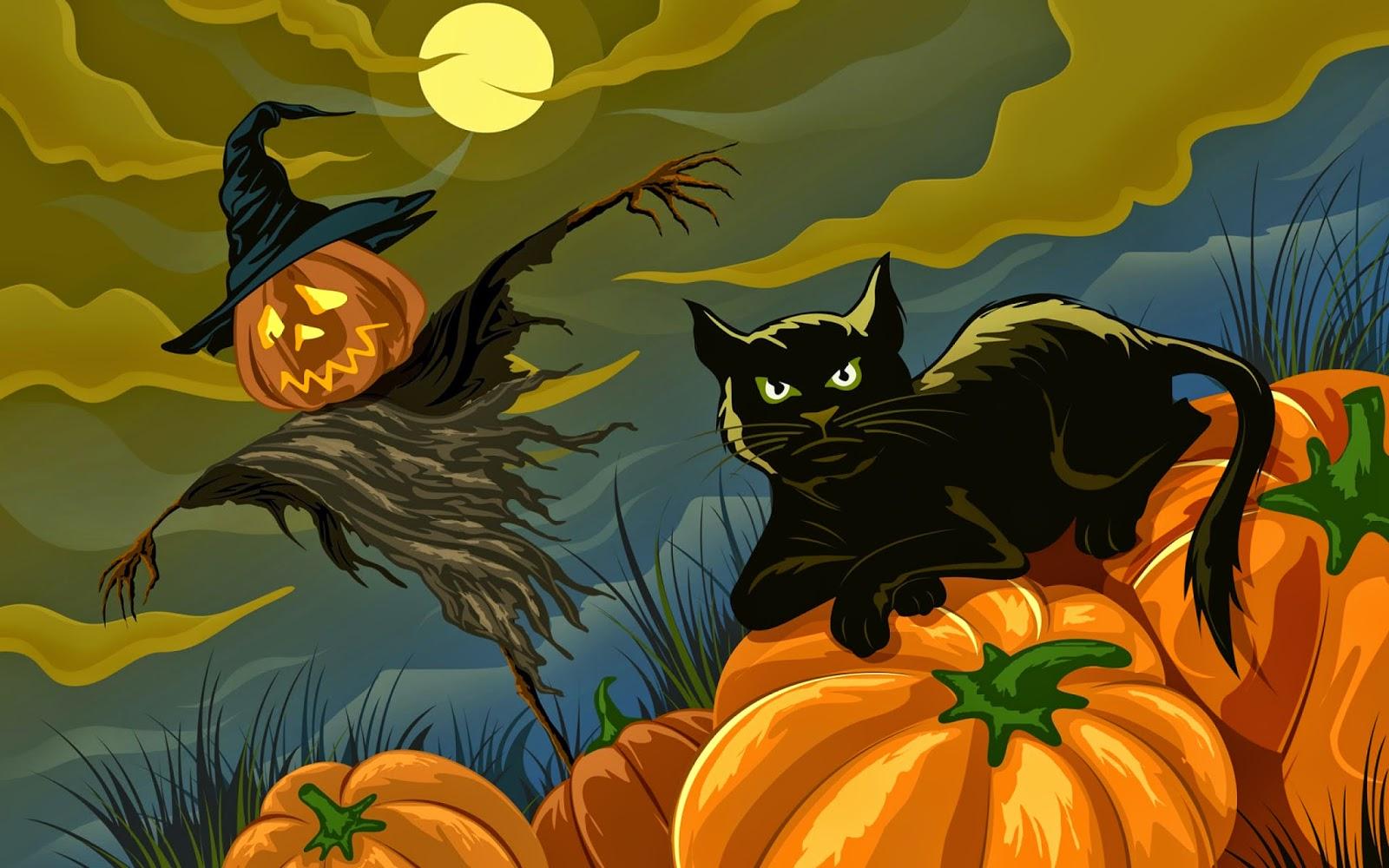 Resultado de imagen para halloween gatos y brujas