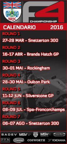 BRDC Fórmula 4 - Calendário
