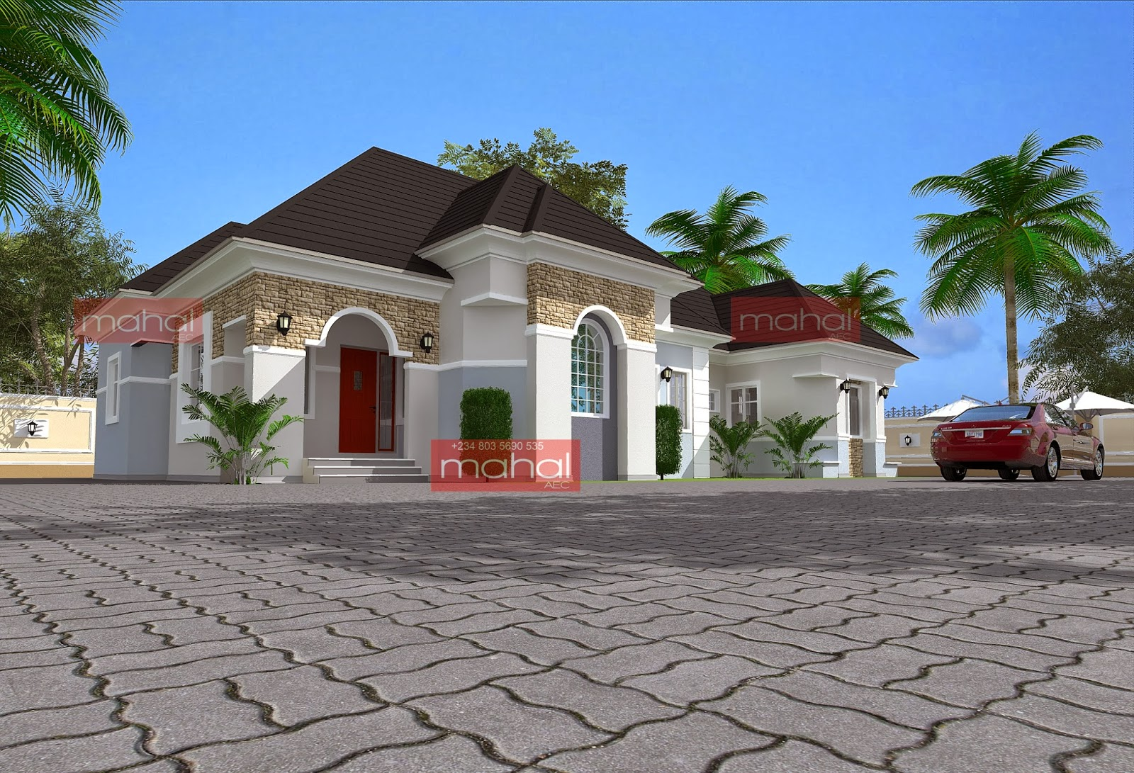 3 bedroom bungalow plan in nigeria joy studio design for Residential house plans and designs