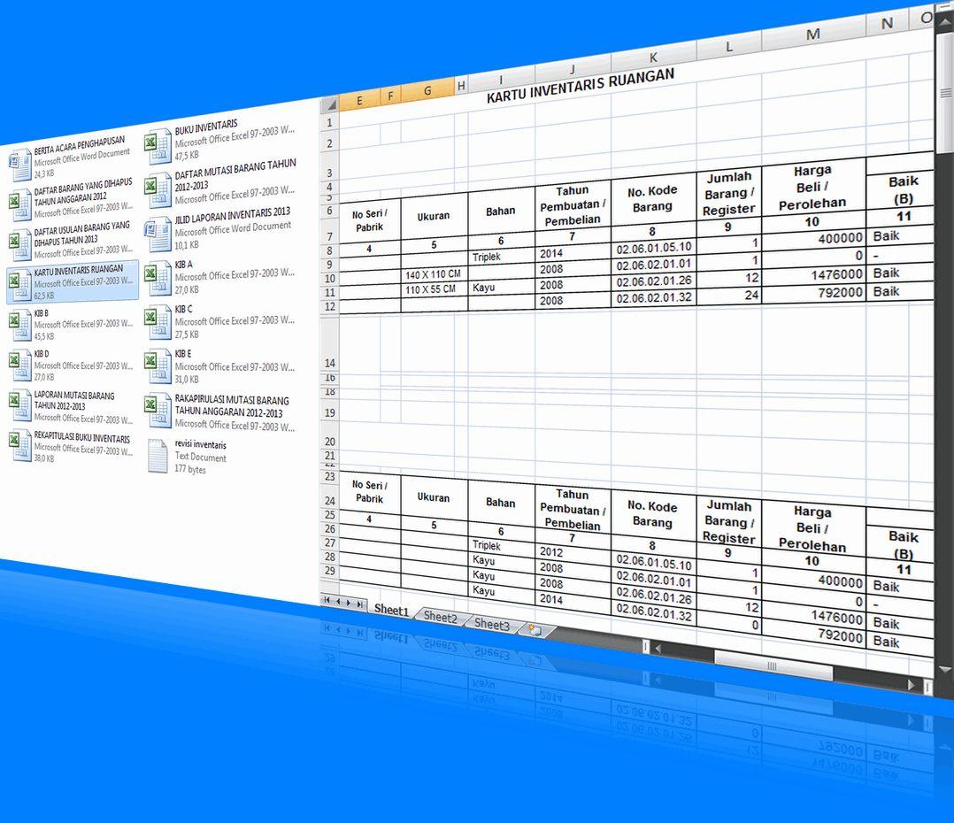 Format Laporan Inventaris Lengkap