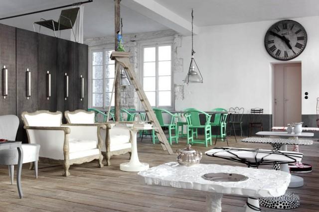 le loft parisien de paola navone mademoiselle i do. Black Bedroom Furniture Sets. Home Design Ideas