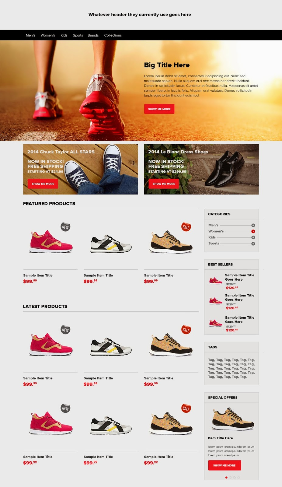 Ecommerce Home Page PSD Template