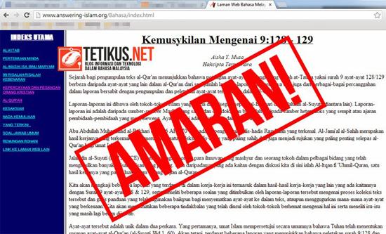 Awas Laman Web Hina Islam