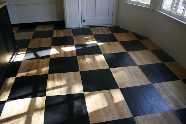 Grass Stains Checkerboard Floors Update