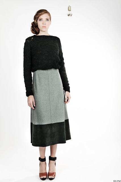 Wool jumper and skirt