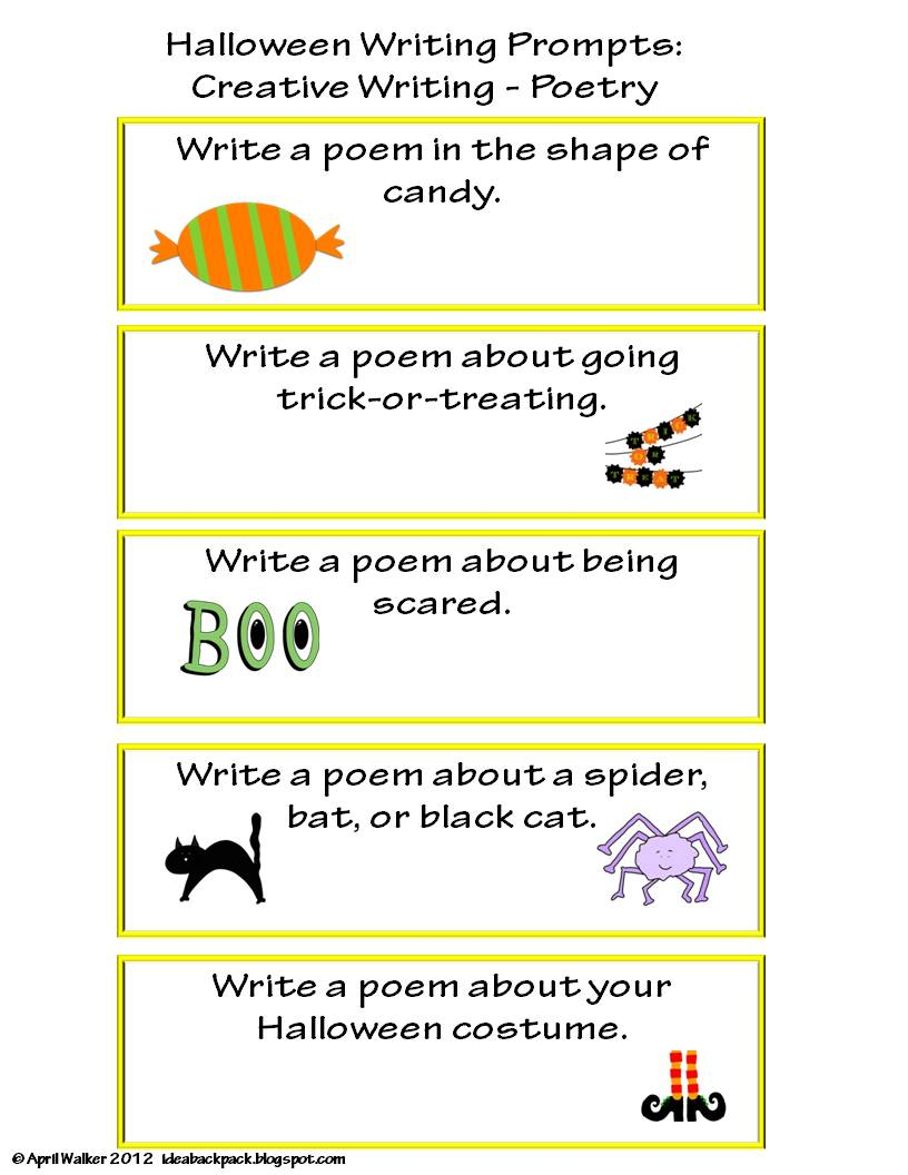 halloween expository writing prompts