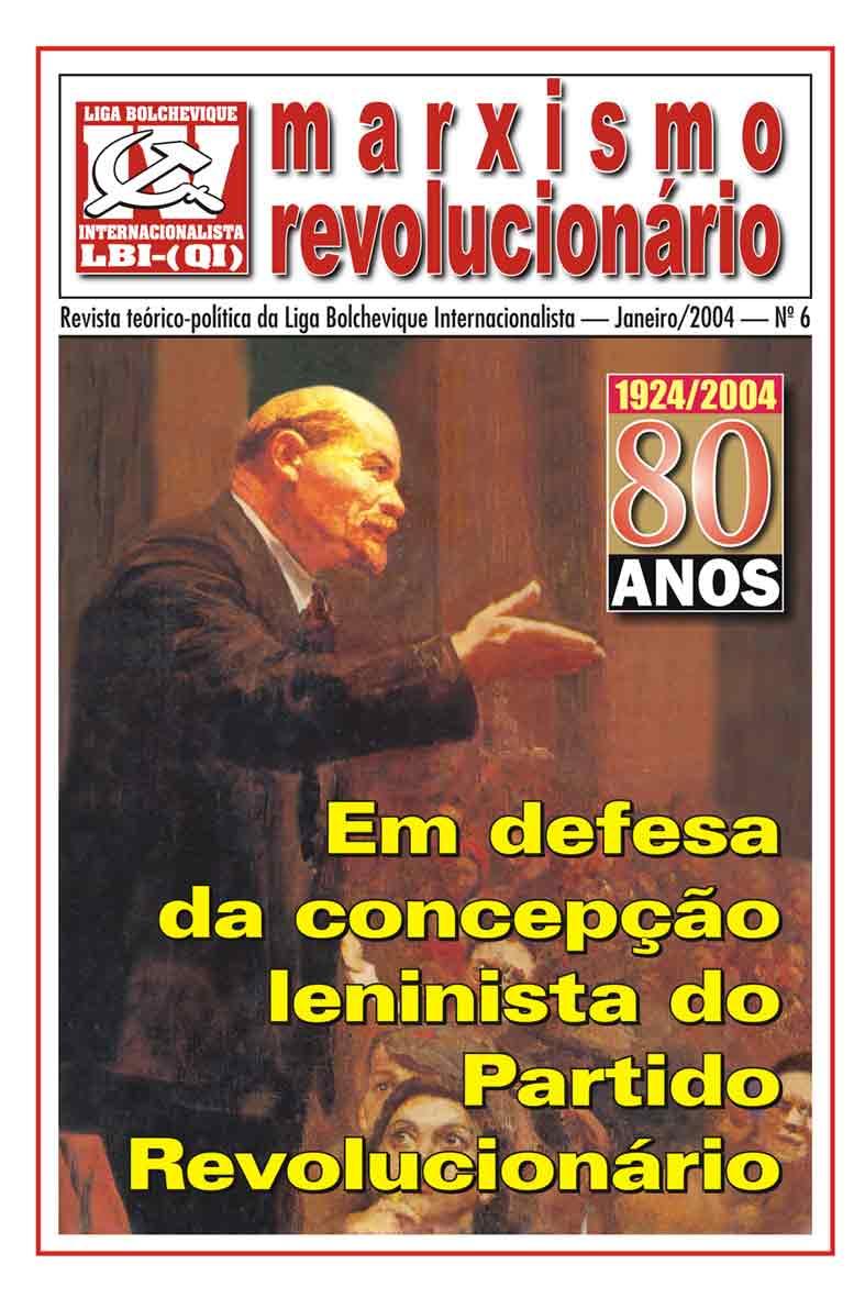 REVISTA TEÓRICA MARXISMO REVOLUCIONÁRIO