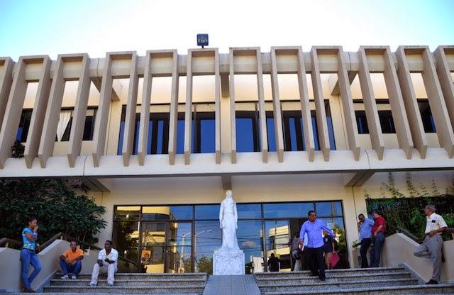El irrespeto que viven los tribunales en el Palacio de Justicia de San Francisco de Macorís.