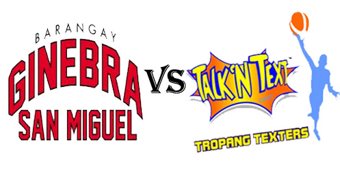 Watch PBA 2012-2013 Brgy Ginebra San Miguel vs Talk N Text Tropang Texters