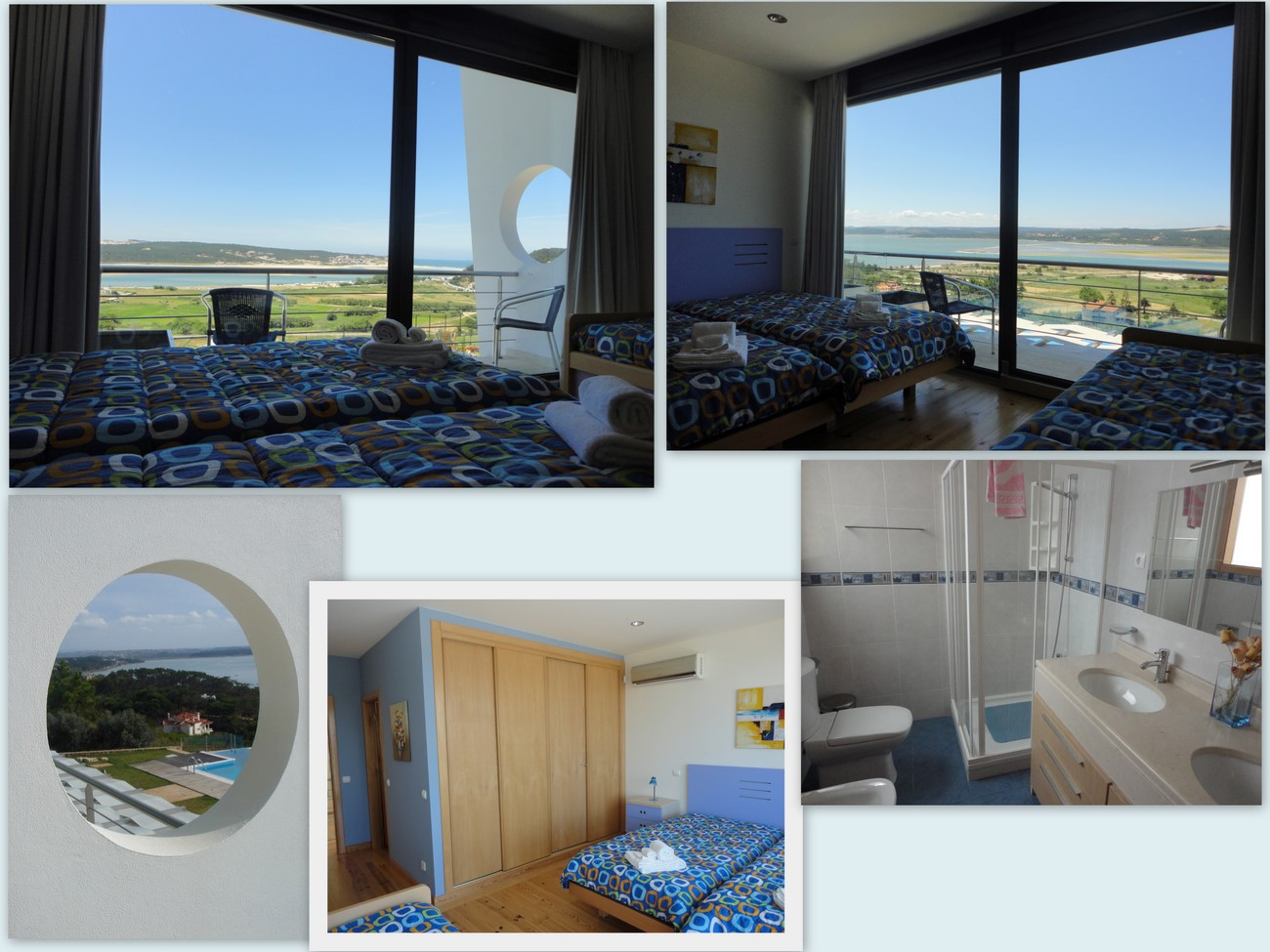fantastic views, private balcony, luxury en suite, air conditioned, closet