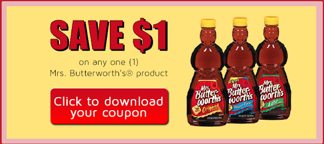 printable coupon for $1 off any mrs butterworths product