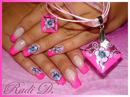Комплект пръстен и колие от UV гел в розово