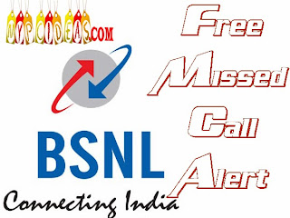How we can set a Free missed call alert service in bsnl
