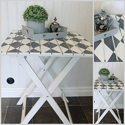 Ommålat trädgårdsbord
