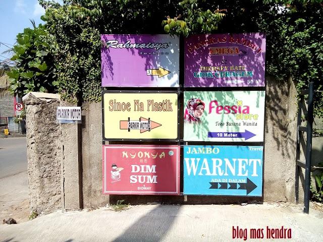 Pintu Masuk Taman Kuliner Cirendeu - Blog Mas Hendra