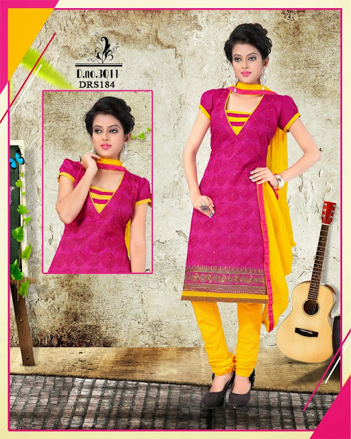 Supplier For Embroidery Churidar Cotton Dress Material