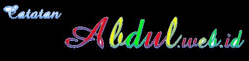 Catatan Abdul web id