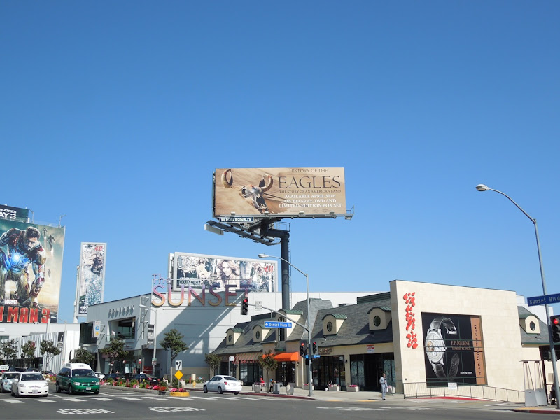 History of Eagles billboard Sunset plaza