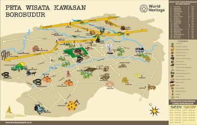 Peta Wisata Kawasan Borobudur