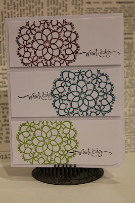 Delicate Doilies, Clean and Simple card