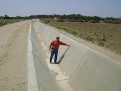 CULMINACION DE OBRA DE UN CANAL DE REGADIO - AÑO 2011