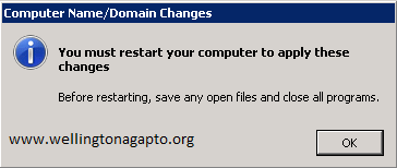"Changing the Primary Domain DNS name of this computer to """" failed. The name will remain """". The error was: The specified server cannot perform the requested operation."