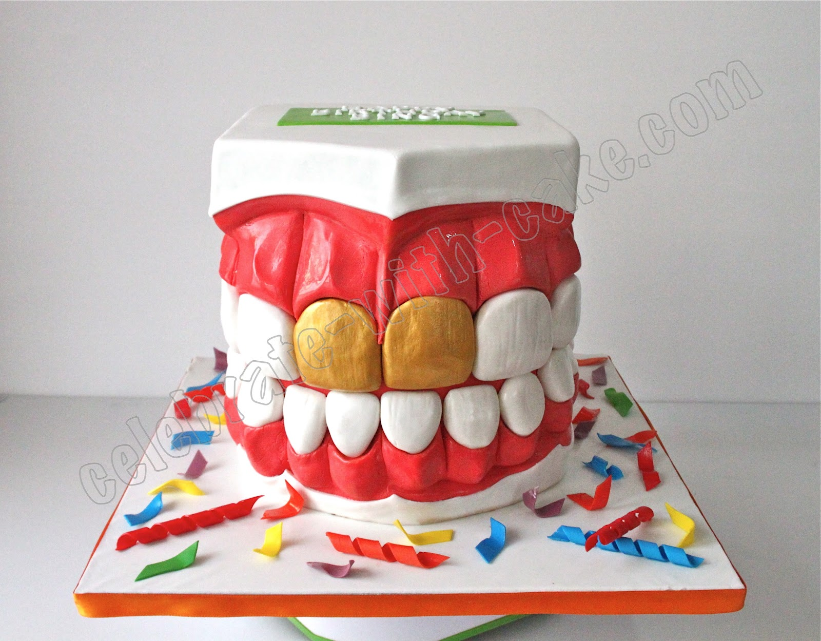 Celebrate With Cake Dentist Teeth Mould Cake