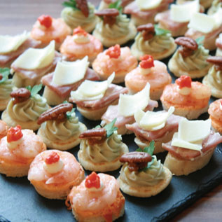 Delicious party food for Cold canapes