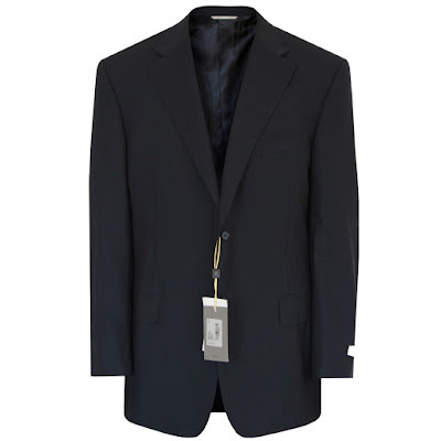 canali mens navy blue water resistant travel blazer jacket