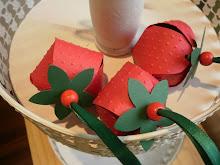 Erdbeere als Verpackung
