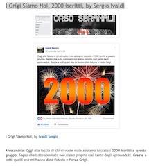 I Grigi Siamo Noi, 2000 iscritti, by Sergio Ivaldi