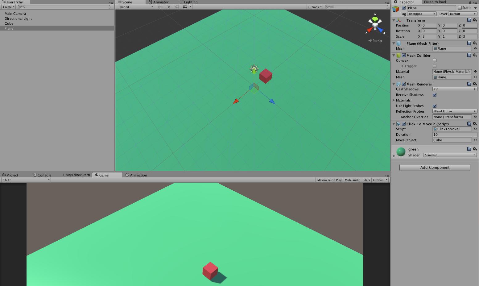 UNITY 3D Tutorials: click to move 3d object using lerp unity c#