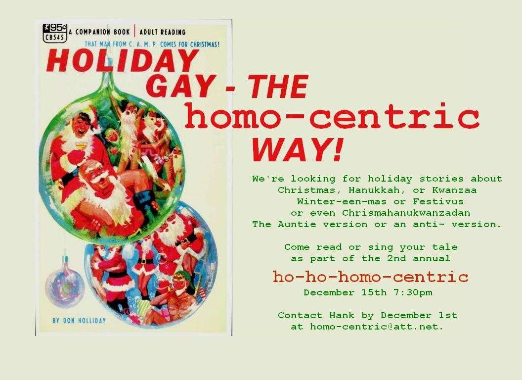 We're looking for holi-gay stories! Posted by homo-centric at 11/26/2011