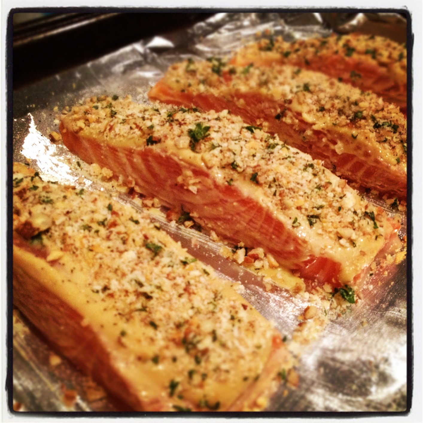 LIFE IS SWEET: Pecan Crusted Salmon