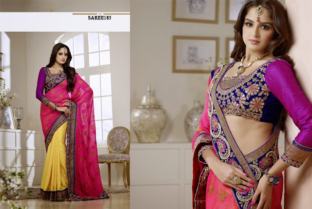 Buy Online Latest Embroidery Designer Saree