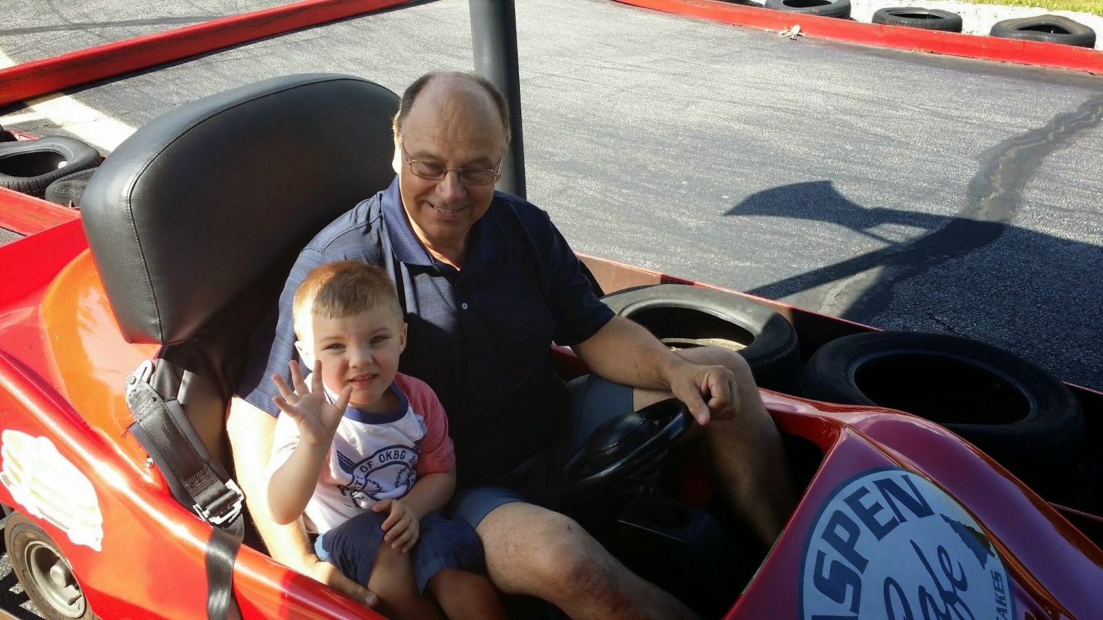 Zach's First Go Cart Ride