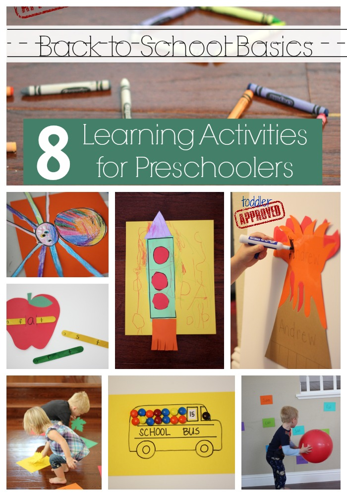 Back to School Basics: 8 Learning Activities for Preschoolers