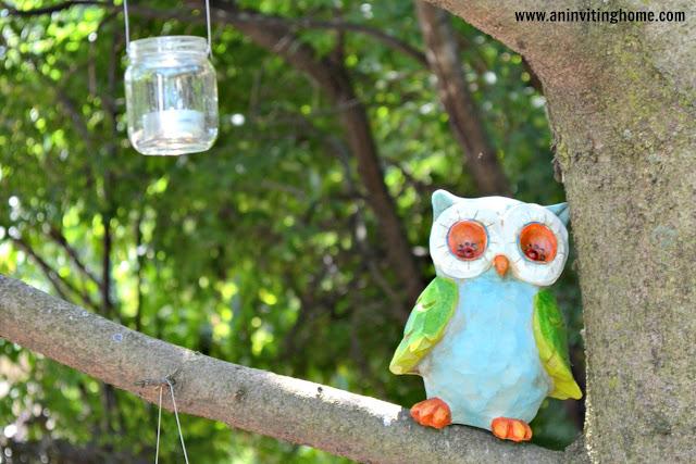 hanging tea lights