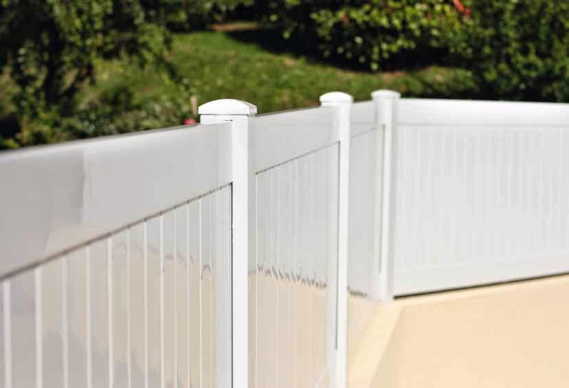 Alcaglas vallas de pvc para tu jard n piscina o finca - Vallas jardin pvc ...