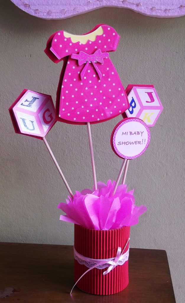 Eventos para tu beb centros de mesa para baby shower for Centro de mesa baby shower