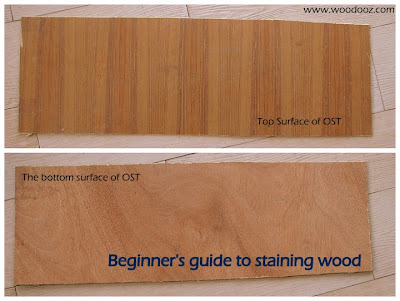 Staining wood tutorial