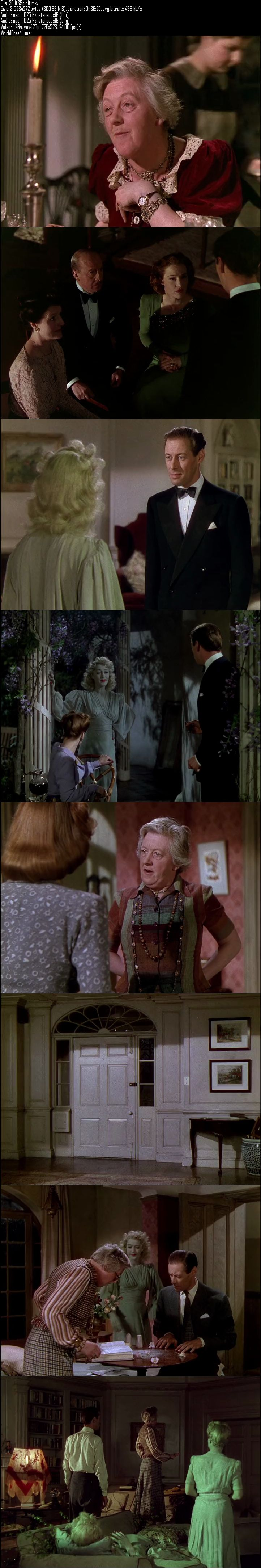 Screen Shot Of Blithe Spirit 1945 Full Movie Download 300MB In Hindi 480P ESubs Full small Size PC Movie
