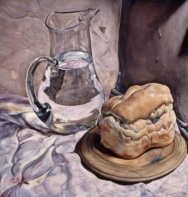 Pintor figurativo,hiperrealista, Michael Taylor; Bodegones..