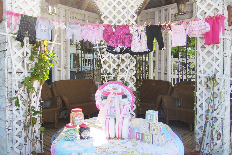 Parties and Patterns: Baby Shower Decoration Idea