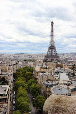 La Tour Eiffel vista dall'Arco di Trionfo