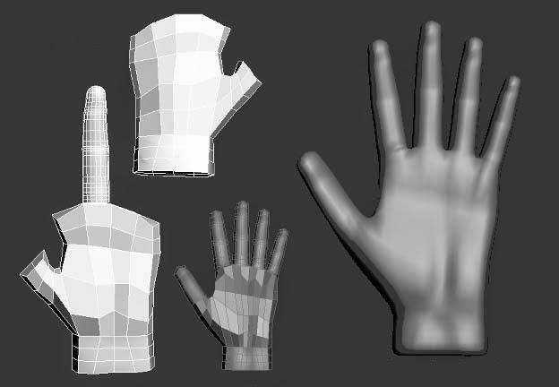 Modelado del personaje: mano