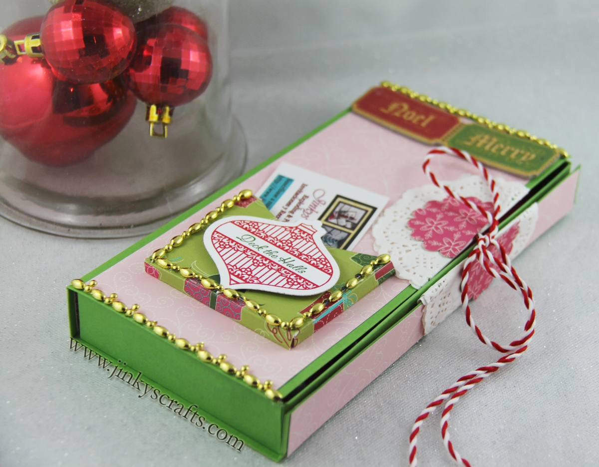 Jinkys Crafts Designs Pocket Gift Box 1st Day Of Christmas Preview