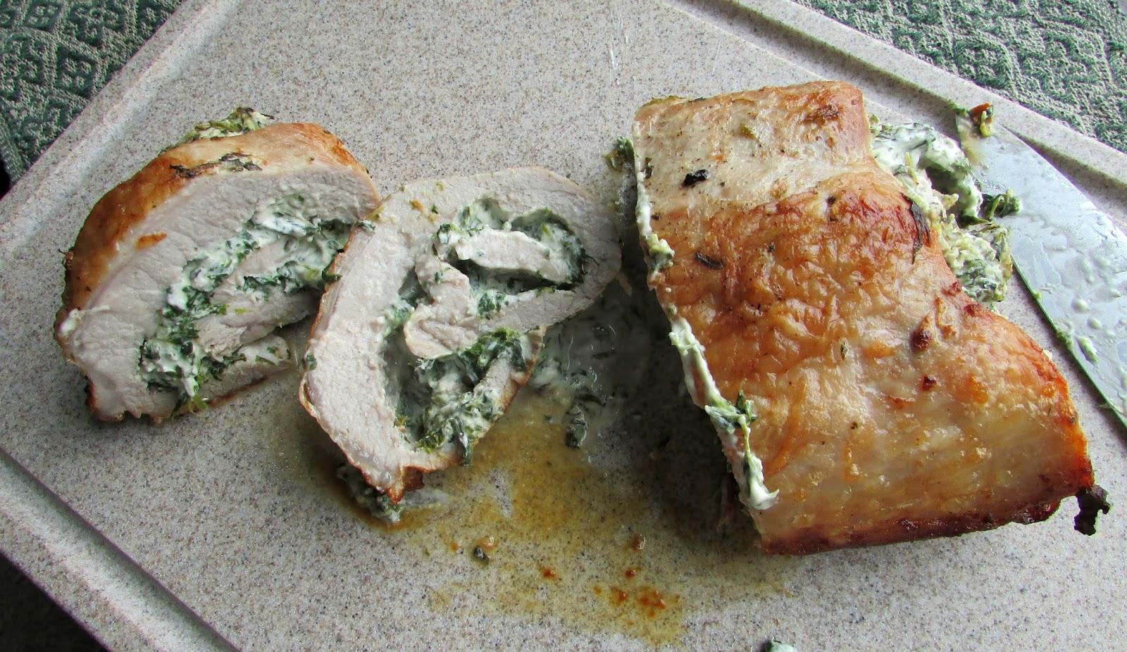 how to cook stuffed pork loin