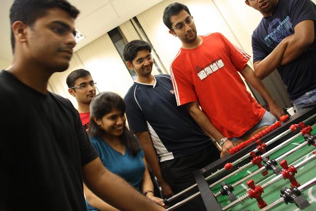 NUS MBA student life- foosball