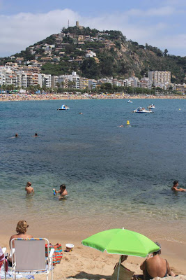 Blanes beach and Sant Joan Castle in La Costa Brava